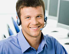 white collar headset customer care agent service contact